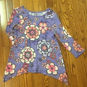 Justice lightweight sweater flower print size 12